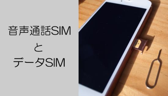 音声通話simとデータSIM
