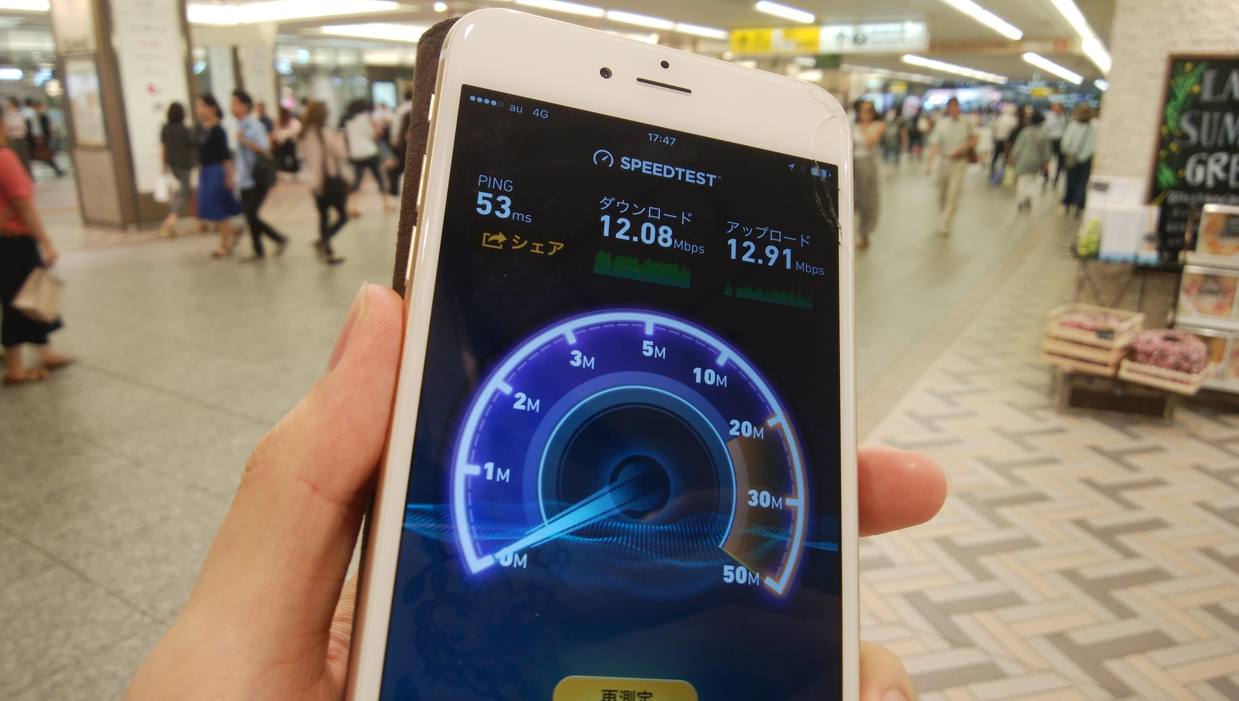 mineoAプランの通信速度