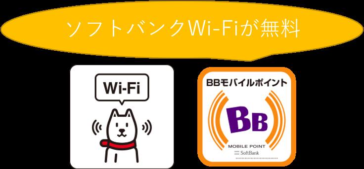 ソフトバンクWi-Fiが無料