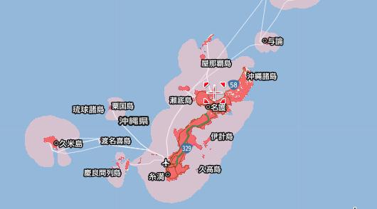 ワイモバイルのエリア 沖縄