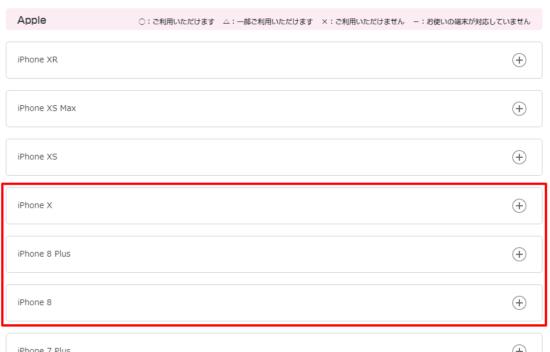UQモバイル iPhone8/Xの動作状況