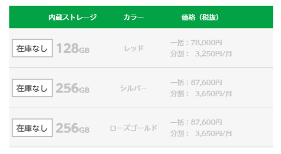 mineoのiPhone7