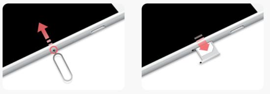 iPhoneのSIMカード入れ替え