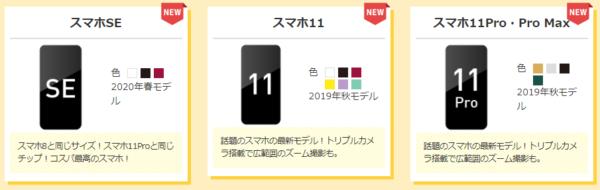 iPhoneシリーズの表記