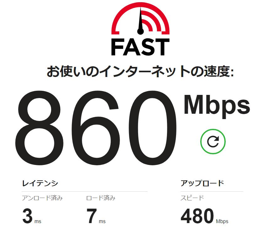 nuro光の通信速度