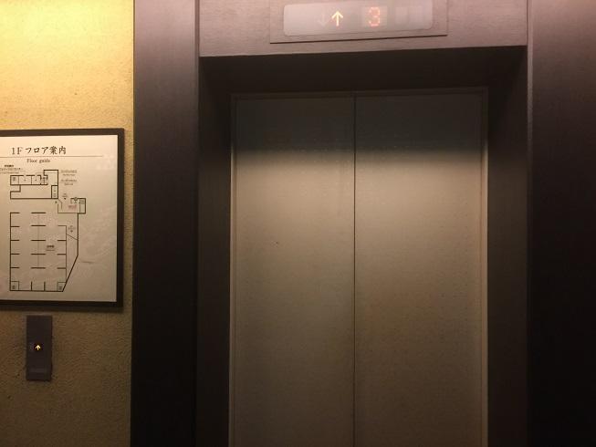 万葉倶楽部のエレベーター