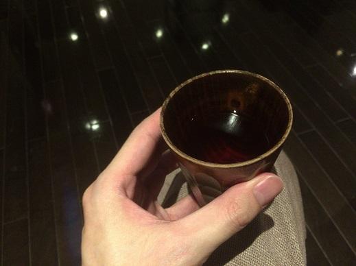 岩盤浴前にお茶