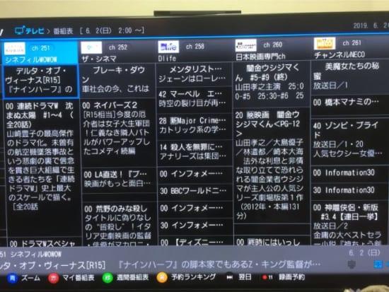 ひかりTVの番組表