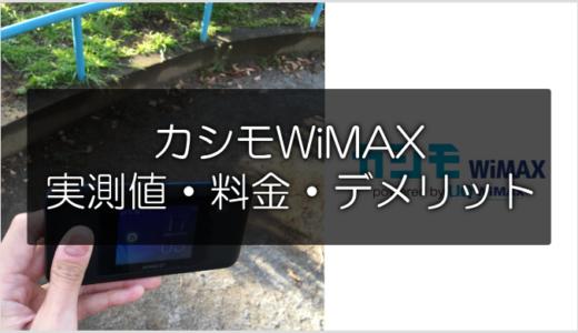 【実測レビュー】カシモWiMAXの速度・料金・デメリットから分かる契約すべき人
