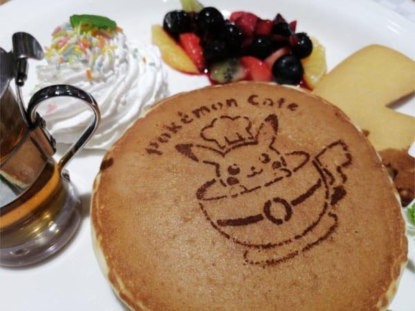 ポケモンカフェのフルーツパンケーキ