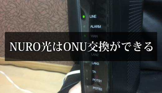NURO光はONUは無料交換できる【HG8045Qが遅いのでZXHNF660Aに変更】
