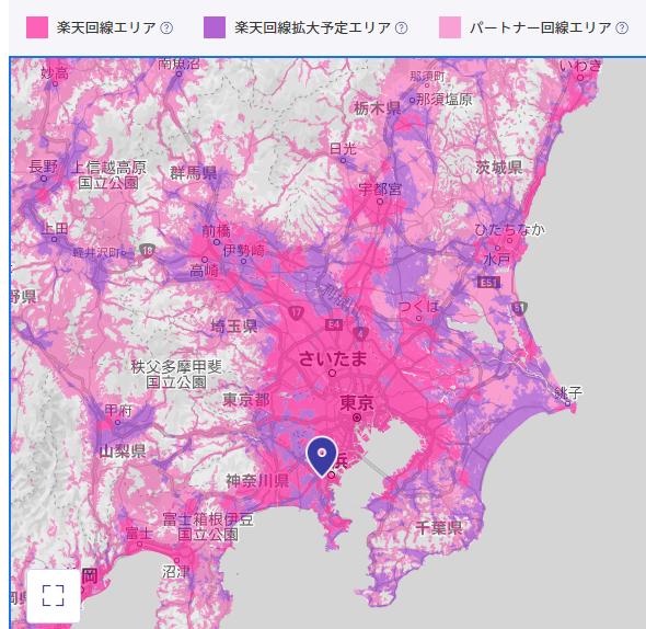 関東地方のエリア
