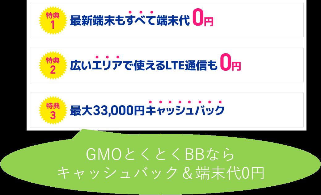 GMOとくとくBBの特典