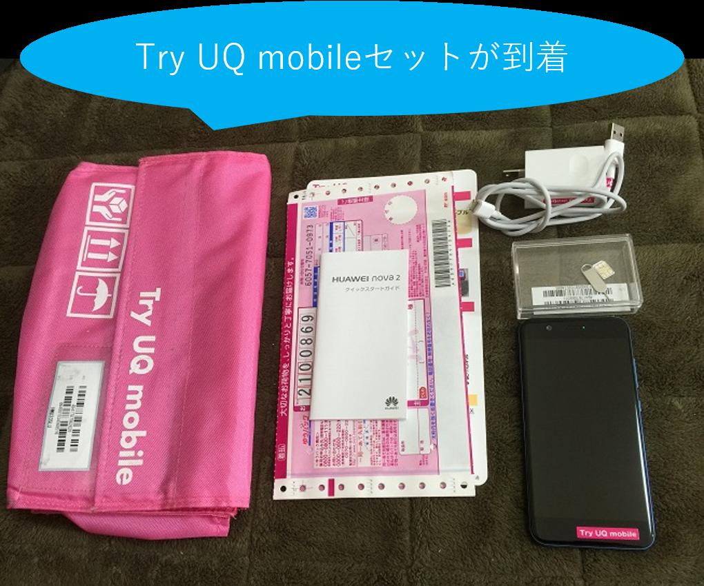 Try UQ mobileのセット