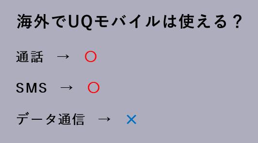 海外でUQモバイルは使える?