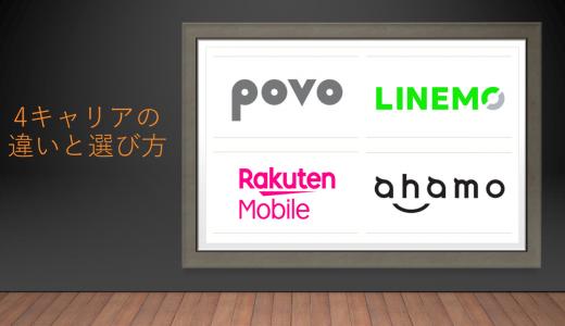 ahamo・povo・LINEMO・楽天モバイルの違いと失敗しない選び方