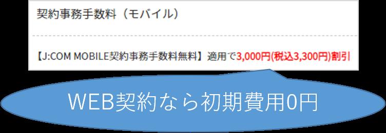 WEB契約は初期費用0円