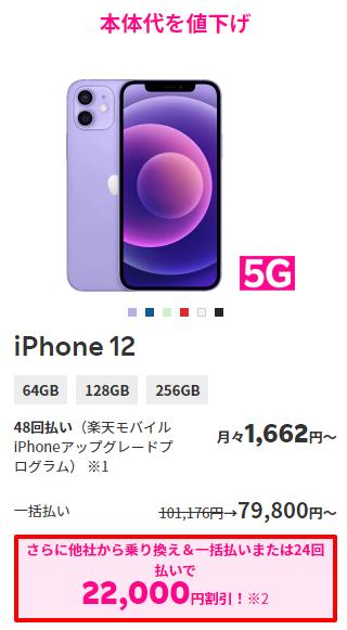 iPhone12のポイント還元